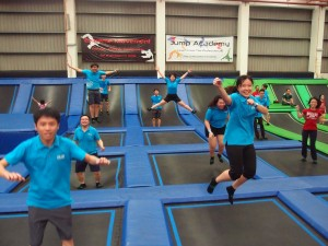 staff jumping